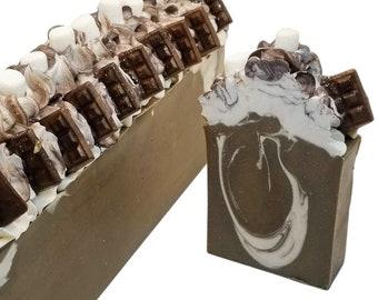 Hot Chocolate & mini marshmallows, vegan soap, aloe vera, homemade soaps