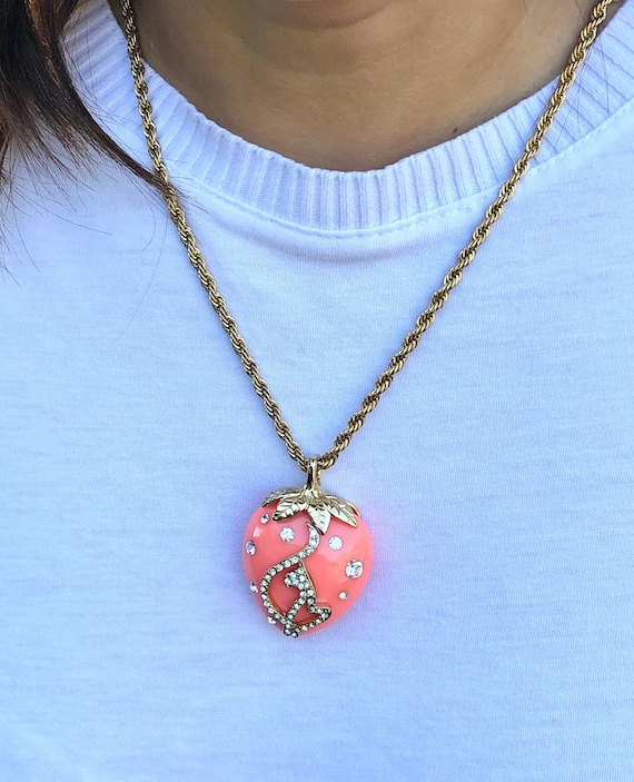 Vintage Baby Phat Strawberry Necklace