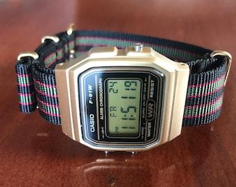 Gold Casio on James Bond Nato Strap - Minimalistic watch