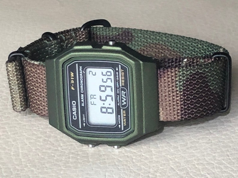 Green Casio on Camouflage NATO