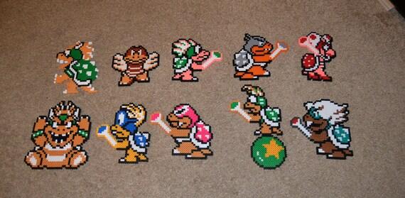 Super Mario Bros 3 Koopaling Perler Sprites Roy Morton Etsy
