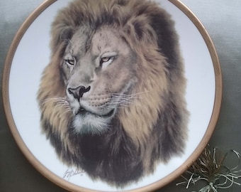 Lion by Guy Cohleach-Great Cats of the World Plate Collection-Lenox 1994 Limited Edition