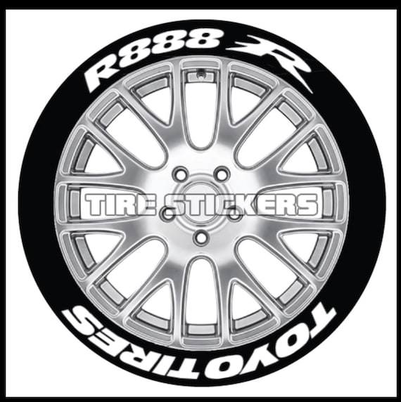 Toyo Tires White Letters >> Rubber Tire Letters Toyo Tires R888r 8 Decals For 4 Wheels 1 25 Letter Height