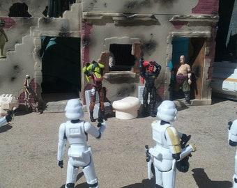 "Star Wars Custom GI Joe Acid Rain Marvel Diorama Building Ruins for 3.75"" Figures"