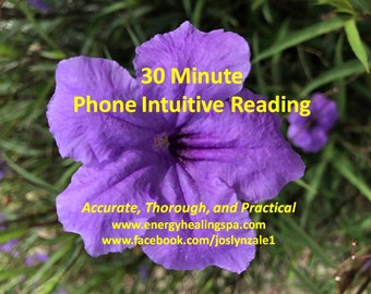 30 Minute Telephone Intuitive Reading