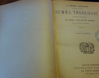Summa Theologica by St. Thomas Aquinas 5 Volume Set