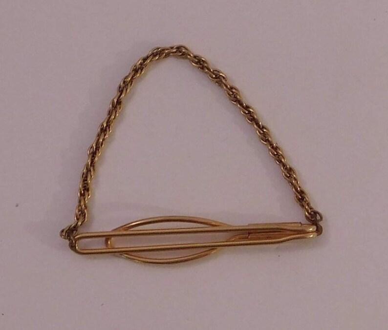 Vintage 120 12K Filled Gold Tie Bar Clip 1960s