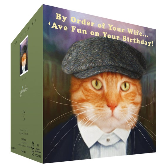 kitten cat Mum Birthday Card Peaky Blinders Fan Funny to from Ginger Cat Lover