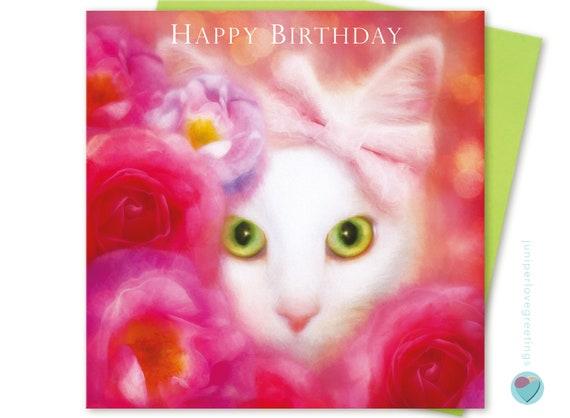 Ragdoll Cat Birthday Cards Niece Sister Daughter Granddaughter 1 2 3 Age