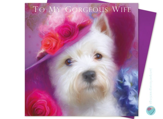 ACEO ATC Meggie cheerful art for your home Westie West Highland terrier dog pup puppy art card animal art