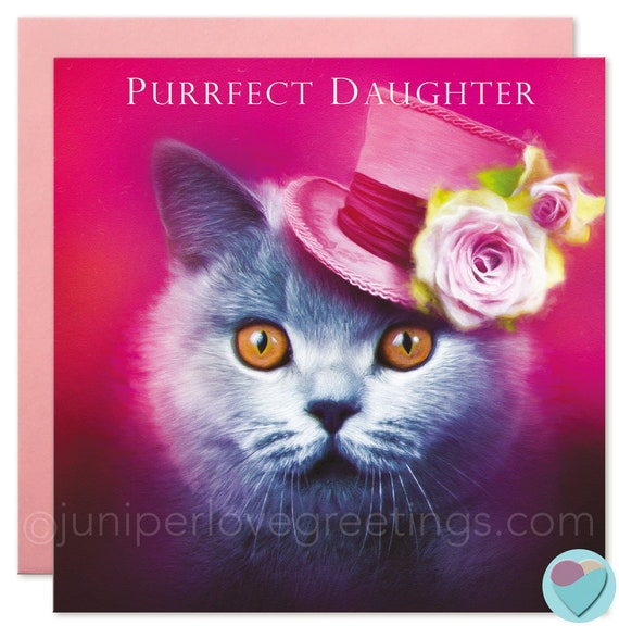 British Shorthair Cat Card DAUGHTER Birthday Or Thank You
