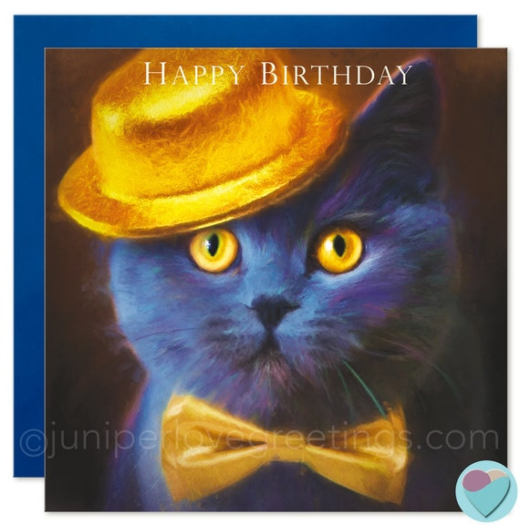 British Shorthair Cat Card Birthday Kitten Lover