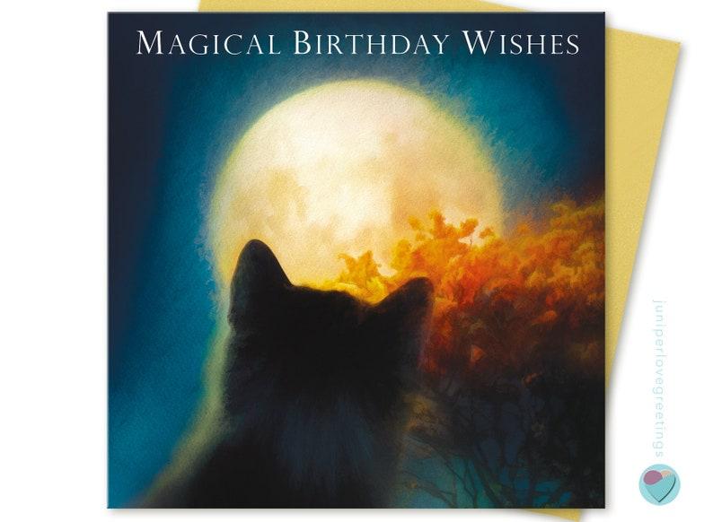 Black Cat Birthday Card Kitten Mum Ideal For All Family