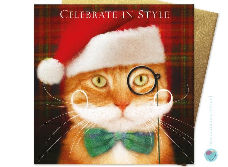 GINGER CAT CHRISTMAS GREETINGS CARD