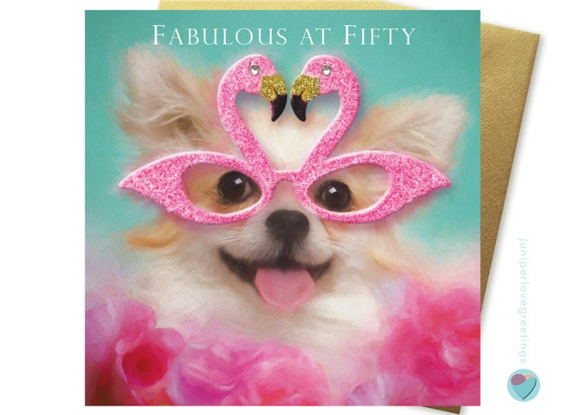 Fabulous at 50 Card with Chihuahua