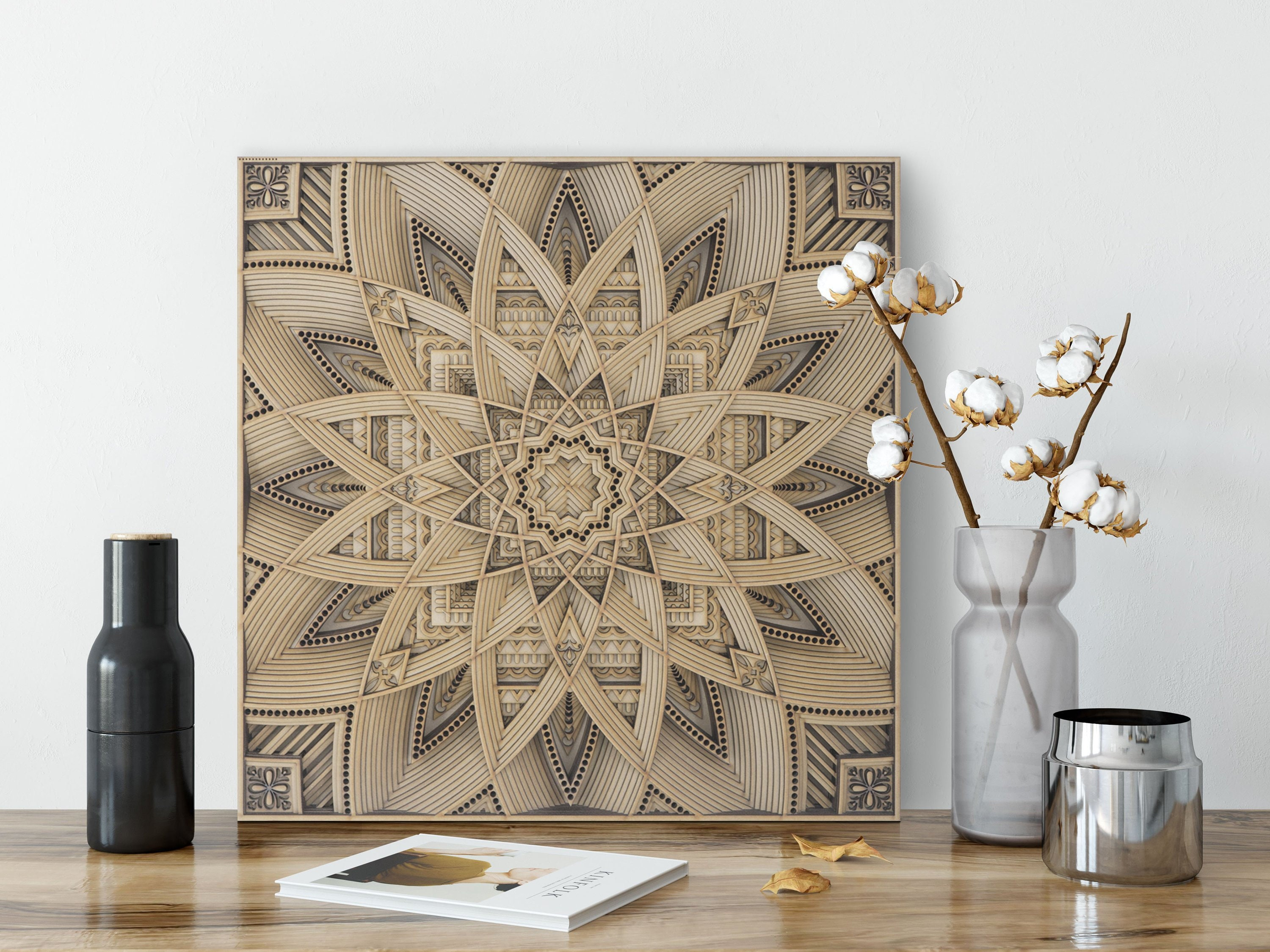 Stereowood Astral Multi Layer Wooden Wall Art Stereoscopic 3d Decor Living Room Decor Bedroom Decor Laser Cut Arts And Crafts