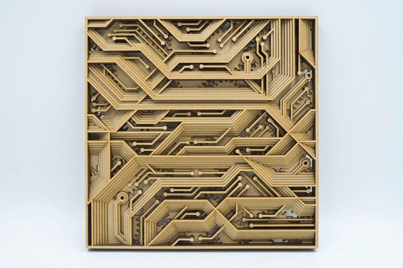 laser cut file vector mandala model wood wall art multilayer plan download  home hanging decor dxf svg 3d pcb scroll saw cricut maker DIY