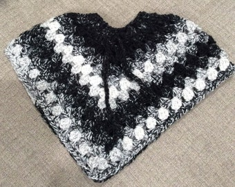 Girls' Crochet poncho - One of a kind
