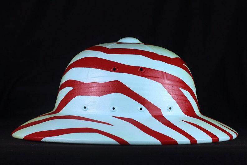 Chameleon Camo Festival Summer Electric Zoo eZoo LostLands Burning Man Tomorrowland Jumanji Painted Vintage Safari Jungle Pith Helmet Loki