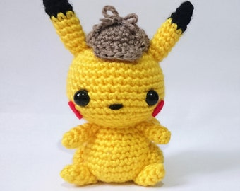 Detective Pikachu Inspired Amigurumi