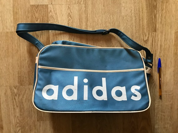 ADIDAS vintage very rare bag 60s Blue  328e8c65934f9