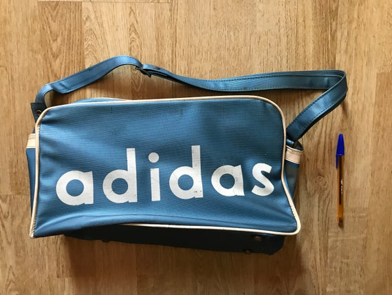 Tasche Seltene Jahre 60er Vintage Adidas Blau 4RL35qcjA