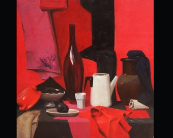 Red-and-rose still life