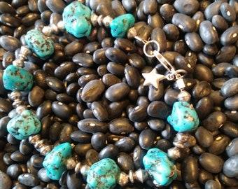 Turquoise chunky bracelet