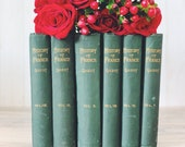 Bookshelf Decor, Antique Decorative Books, Rustic Farmhouse Decor, Large Shabby French Books for Display
