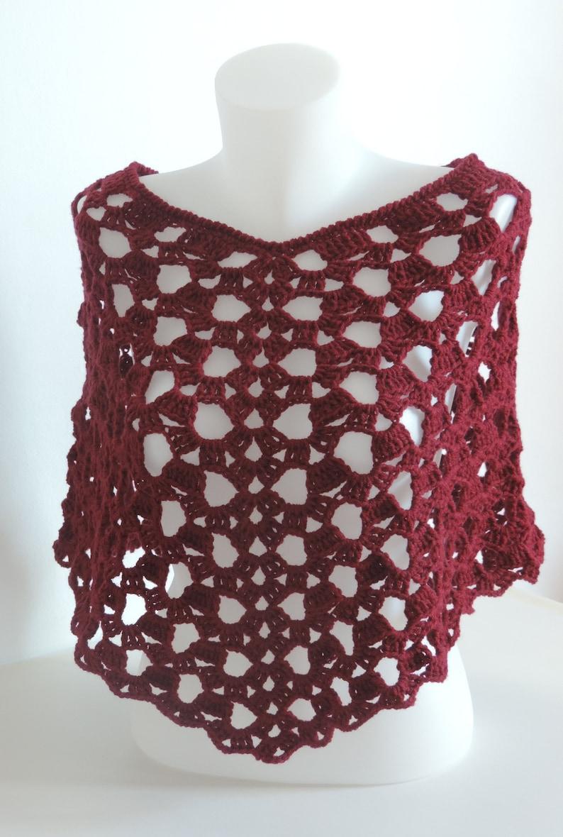 Crochet Poncho Handmade Poncho Crochet Shawl Hand Knitted Etsy