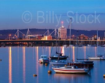 097, Cardiff Bay at night, Wales, UK