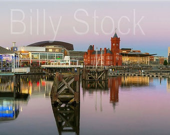 099, A Panoramic of Cardiff Bay, Wales, UK