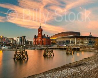 095, Cardiff Bay at Sunset, Wales, UK