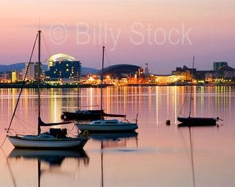 096, Cardiff Bay at Sunset, Wales, UK