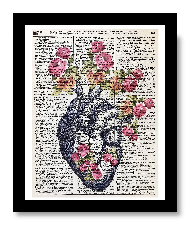 37eb8584d9705c Anatomical Print Anatomical Heart Flower Human Heart
