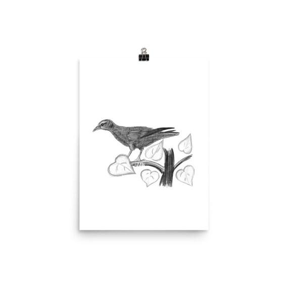 Bird Drawings Bird Artwork Drawing Of Bird Simple Bird Drawing Poster Size Prints Print Of Birds Bird Artwork Prints Of Birds