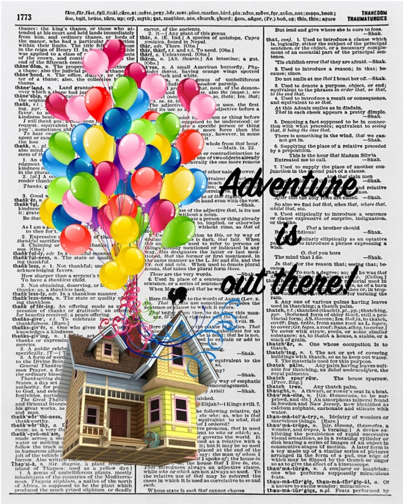 Adventure is out there, Up Quote, Disney Up Movie, Up Quotes, Carl Ellie  Print, Disney Up Movie, Carl & Ellie, Disney Movie UP, 8x10, 16x20