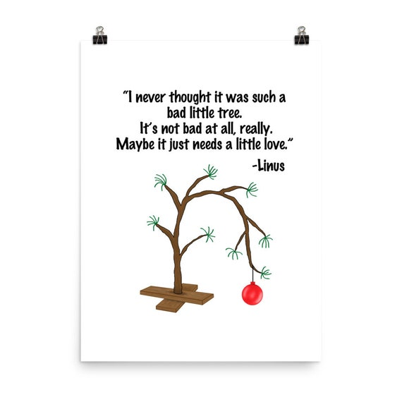 Charlie Brown Christmas Tree Quote.Charlie Brown Tree Charlie Brown Christmas Linus Quote Charlie Brown Art Charlie Brown Little Tree Peanuts Tree Multiple Sizes