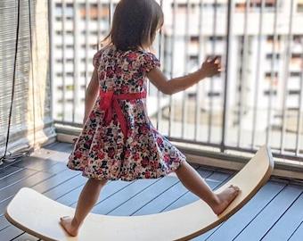 Original Balance Board For Toddler, Montessori Toy, Wobbel Board For Kid, Wooden Balance Board Montessori, Rocking Board, Wooden Toy, Wobbel