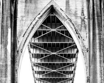 St Johns Bridge Details 3, Closeup, Portland Photography, Pacific NorthWest Photography, Bridges, Gift Prints, Fine Art Prints, Bridge Art