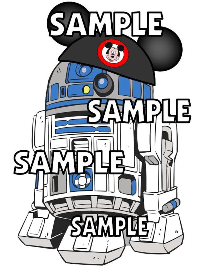 Disney World Disneyland Chewbacca Chewy with Mickey Ears Scrapbook Die Cut Piece