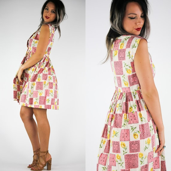 Women's Vintage 50s Day Dress | Playful 50s Day Dr