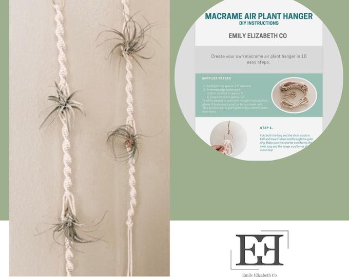 Macrame Air Plant Holder Pattern- Digital Download