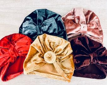 Baby Velvet Wrap Hats