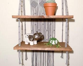 Macrame Wall Shelf