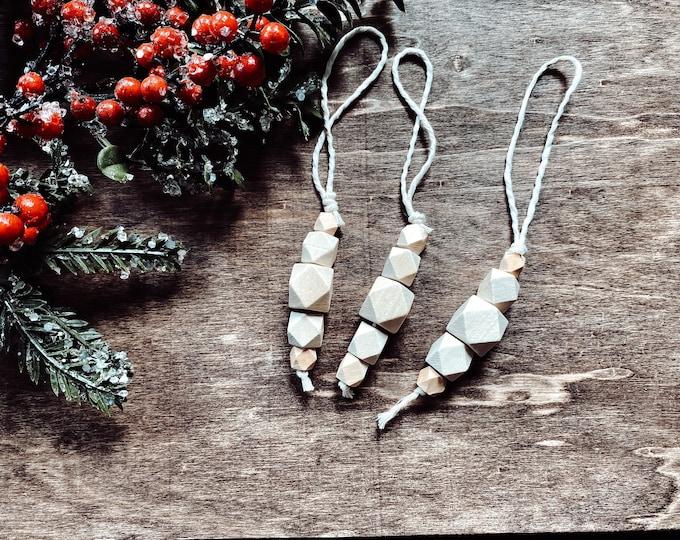 Wood Bead Ornaments- 3 Pack