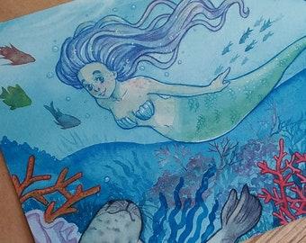Mermaid Postcard 10x15 print