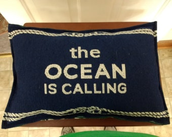 The Ocean is Calling Decorative Pillow