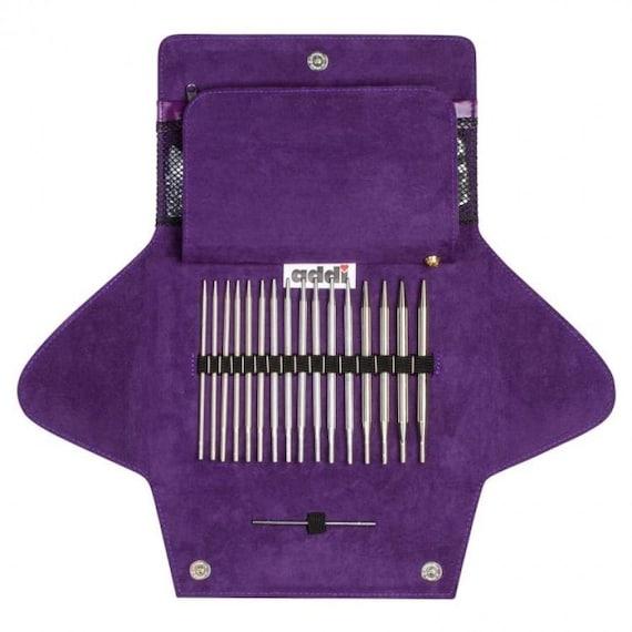 Addi-Click Basic système de broches Aiguilles Tricot Tricot Aiguille-Set avec étui Tricoter