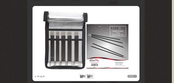 KnitPro Rundstricknadeln Karbon Nadel Karbonz  2-8mm alle Längen alle Größen